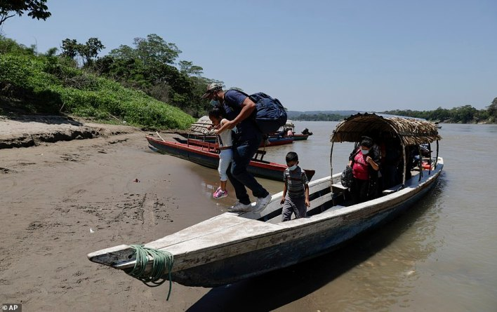 Thousands of migrants continue to cross the southern border of Mexico each day, as entire communities make a living off the passing migrants heading north to its northern border with the US