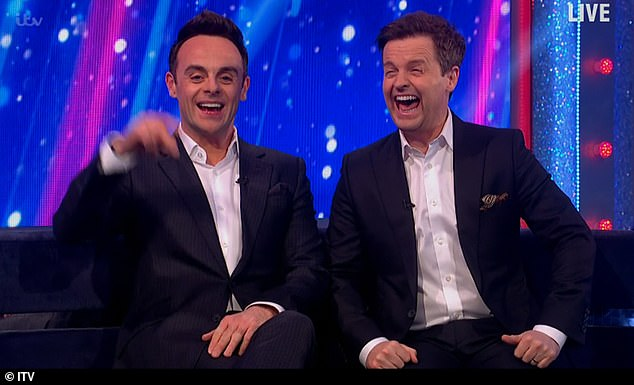 Loving it: Ant and Dec laughed along with Maddy as the truth was revealed and were particularly taken with Ross' less than perfect abseiling attempt