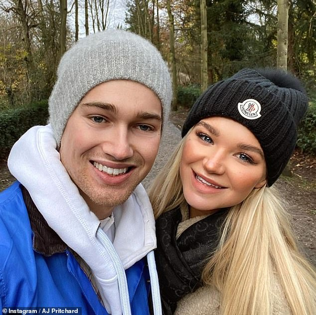 Devastating: Abbie revealed that she asked boyfriend AJ Pritchard if he 'would still love her' after the horrific fire accident (pictured before the accident)