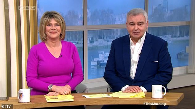 Couple: Eamonn and wife Ruth Langsford married in 2010 after meeting in 1997. They have one son together, Jack (pictured on This Morning)