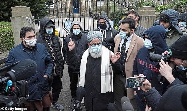Scores of parents protested outside Batley Grammar School last week
