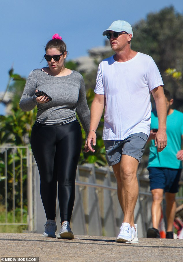 Soaking up the sun!Billionaire heiress Francesca Packer, 26, stepped out in skin-tight activewear as she enjoyed a walk with a friend in Sydney on Friday