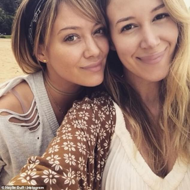 Gal pals: Tisdale has been long been friends with Haylie Duff and her younger sister Hilary Duff