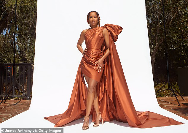 On Saturday: Regina King amped up the glamor at the NAACP Image Awards, when she graced the virtual red carpet of the awards event in Los Angeles