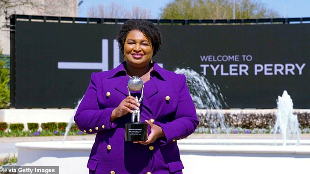 Truly deserved: Michellepresented the Social Justice Impact Award to politician and activist Stacey Abrams