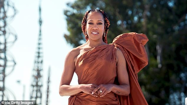 During the event:Regina King presents the Outstanding Actor in a Motion Picture Award