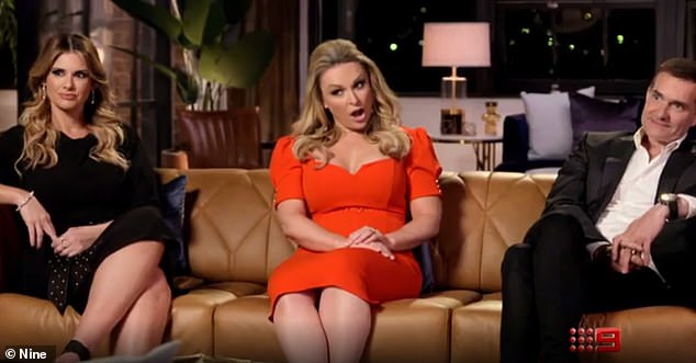 Rules: When one partner says they want to stay, both parties must remain on the show for another week - even if the other party says they want to leave. Pictured: MAFS experts Alessandra Rampolla, Mel Schilling, John Aiken