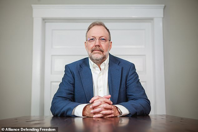 Prof. Nicholas Meriwether's (pictured) refused to address a transgender feminine student as 'Ms' rather than 'Ms'
