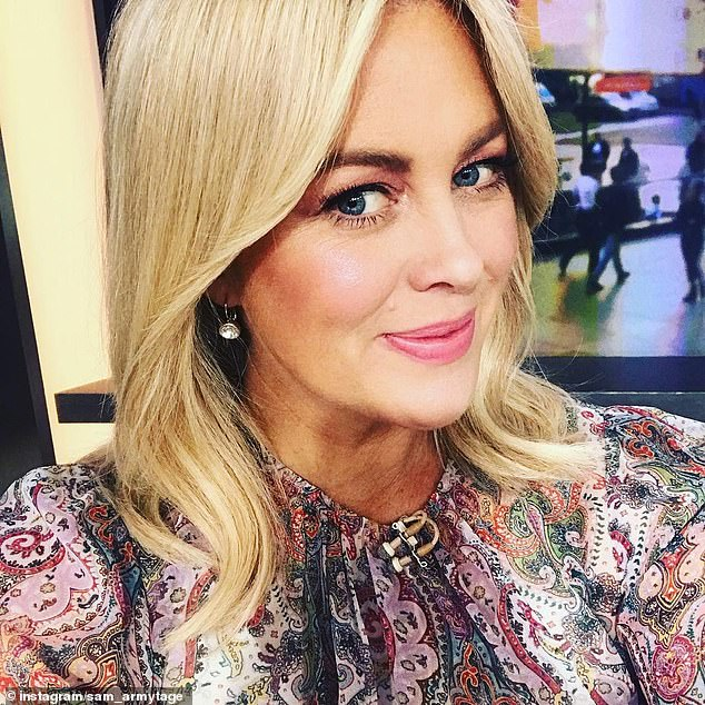Parting shot: Sam's (pictured) farewell dinner came just hours after she used her last day on Sunrise to attack the media for treating her 'unfairly' during her eight-year tenure