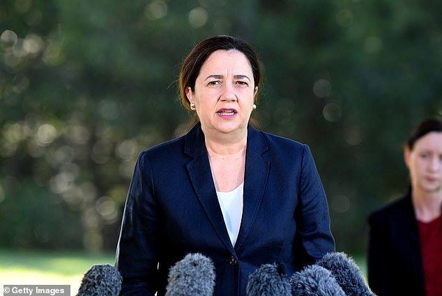 Queensland Premier Annastacia Palaszczuk on Monday morning as she ordered the whole of Greater Brisbane into a three-day lockdown ahead of the Easter weekend