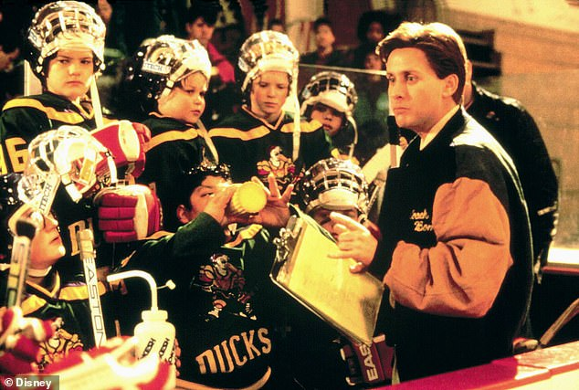 Original movie: He's sentenced to coach a ragtag hockey team known as The Mighty Ducks, as he leads them to greatness