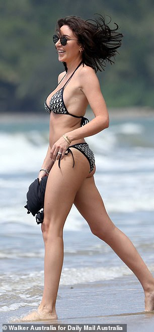 Physique: The heiress clearly looks after her figure, looking nothing short of sensational in the skimpy get-up