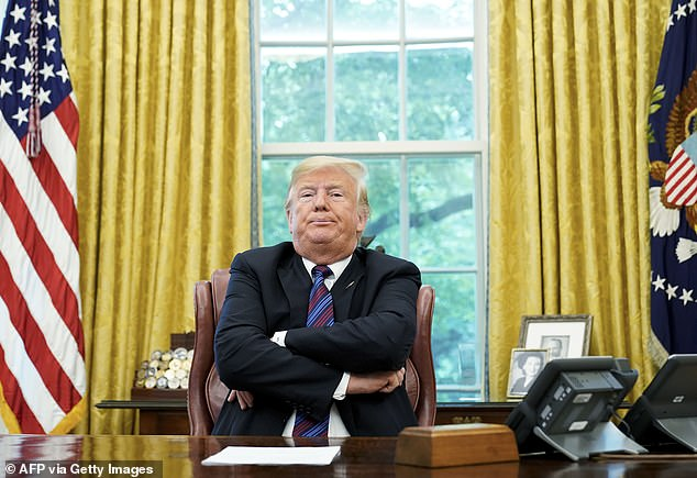 Three cases have been referred to Willis' office by the Secretary of State - including to probe the infamous phone call in which Trump told the Georgia Secretary of State Brad Raffensperger to 'find' 11,780 votes (pictured, Trump in the Oval Office in August, 2018)