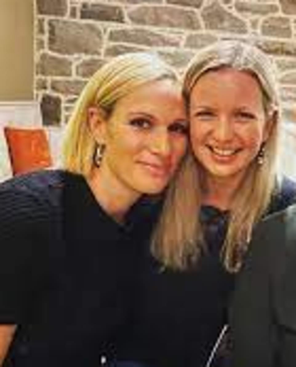 Ms Wallace attended £40,000-a-year Aberdeenshire private school Gordonstoun in the same year as Zara, 39 (pictured together). Peter also attended the school but is a few years older.