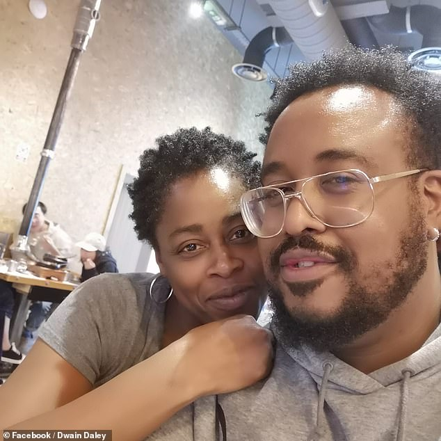 Another couple saying 'I do' today is Dwain Daley, 37, and Nyasha Pitt, 43, who met online during the pandemic