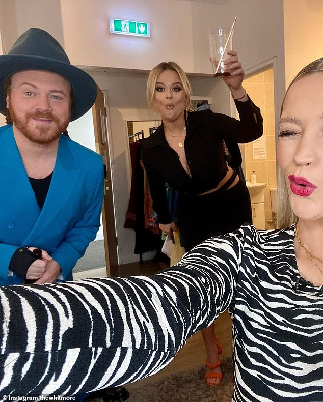 Workmates:The TV presenter will appear on the 25th series of the ITV2 show in April alongside host Keith Lemon, 45, and team captains Emily Atack, 31, and Laura, 35 (pictured)