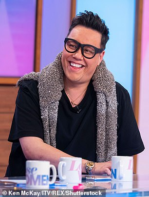 Candid: Gok (pictured left in 2019 and right in 2012) has previously reflected on his struggle with both obesity and anorexia