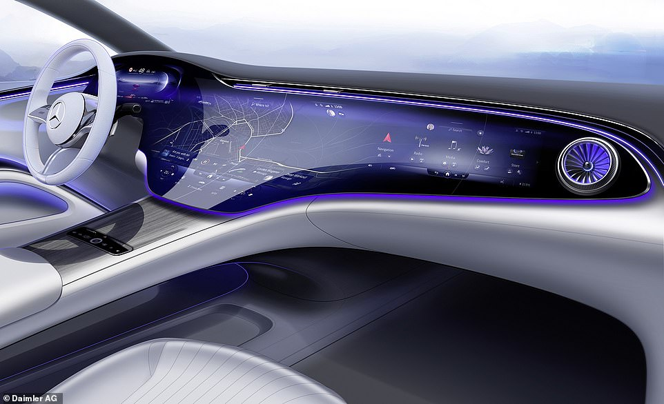 Is this the future of car cabins? Check out the new MBUX Hyperscreen that will be used in the forthcoming Mercedes-Benz EQS luxury electric vehicle