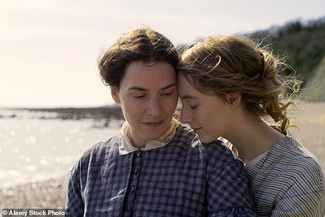 Question time: The A-list actress has said she has never been asked so many questions about a heterosexual love scene as she has about the ones with Saoirse in Ammonite
