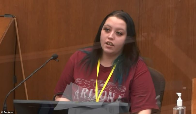 The prosecution's second witness wasAlisha Oyler, a 23-year-oldcashier at the Speedway gas station opposite Cup Foods