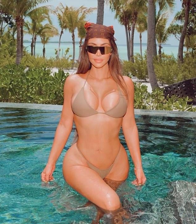 And so you have the perfect storm: boys who have grown up watching women being humiliated and abused online; and girls who feel it¿s incumbent on them to dress like Kim Kardashian and writhe around like Cardi B at parties. (Pictured, Kim Kardashian)