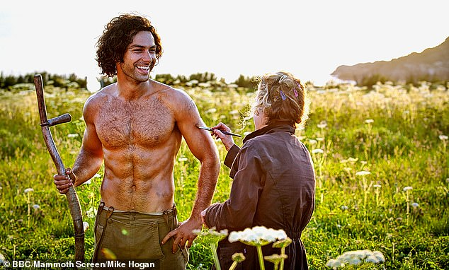 Wow: The star is best known for his portrayal of Ross Poldark in the iconic BBC drama - which ran from 2015-2019