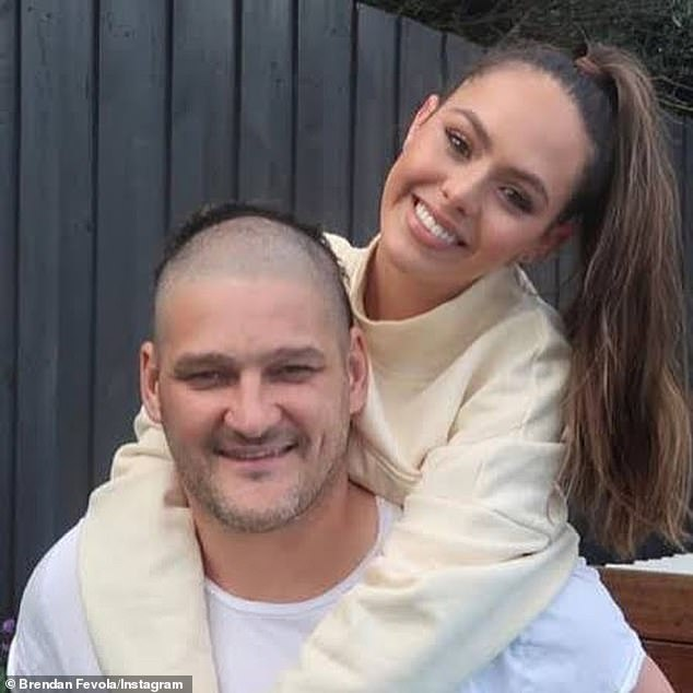 Protective: Earlier this month, Brendan furiously defended Mia after she was subjected to misogynistic abuse on social media by trolls following her decision to go public on her relationship with rising AFL star Jamarra Ugle-Hagan