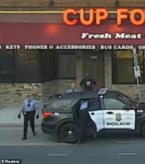 The video taken by a mounted pole camera and streamed to the dispatch office showed officers struggling with Floyd in the squad car