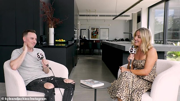 Cringe! Jules, who is currently promoting her new book Tea & Honesty, was left mortified after an interview with KIIS FM producer Pedro Cuccovillo Vitola (left) urned into a bizarre interrogation about her sex life this week