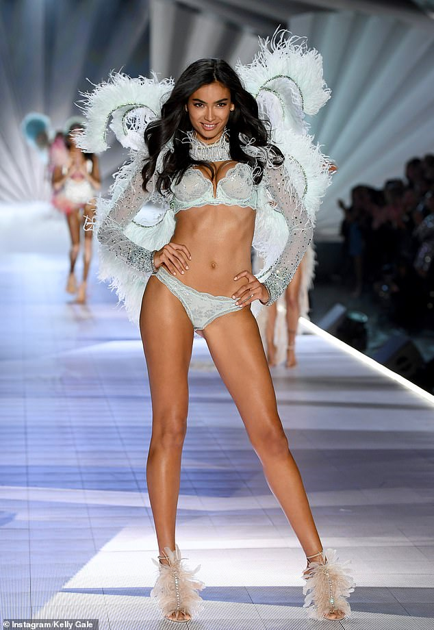 Catwalk queen: Gale has been a Victoria's Secret model since 2014. Seen here at the 2018 show
