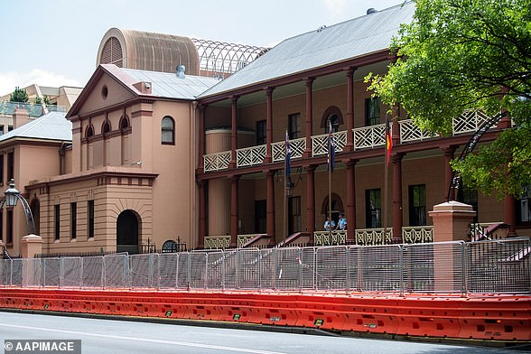 Johnsen allegedly suggested the pair have sex in his parliamentary office. Above, NSW State Parliament on Macquarie St