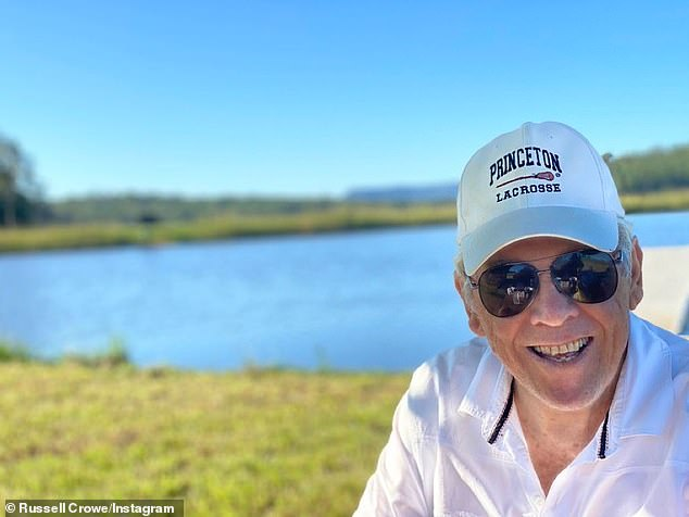 The father and son isolated together on his Australian property last April amid the pandemic. The actor proudly showed off a photo of his dad wearing a cap he got on the set of his 2002 film A Beautiful Mind