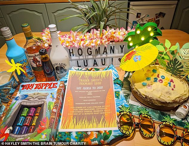 New Year's Eve saw the couple celebrating Hogmanay Luau, which combines the Scottish celebration on December 31 with a traditional Hawaiian party