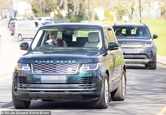 Ghislaine Maxwell's brother Ian has said he does not think his sister will call on Prince Andrew (pictured leaving his Windsor home this week) as a defence witness at her summer trial