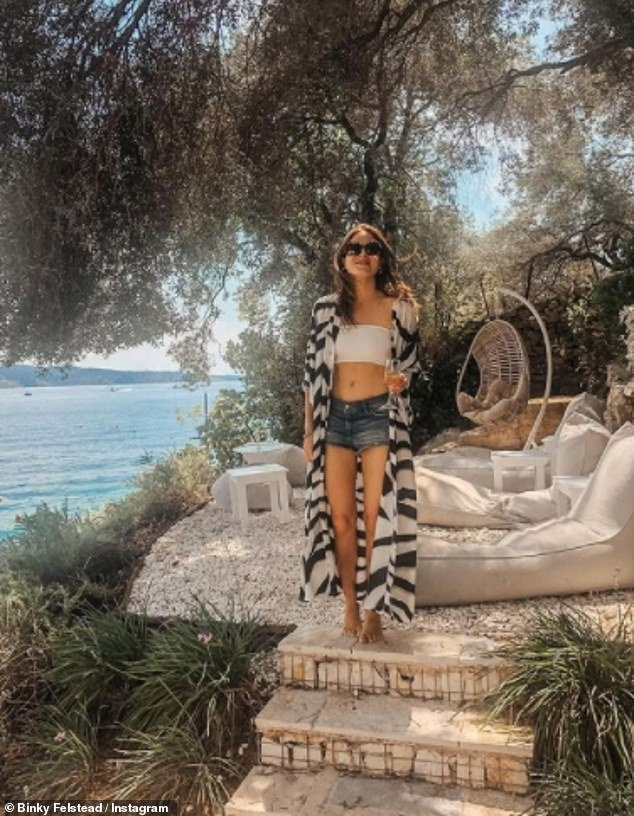 Good news! Binky Felstead has revealed that she's found the perfect venue for her nuptials as she shared a throwback snap from a previous holiday to Greece