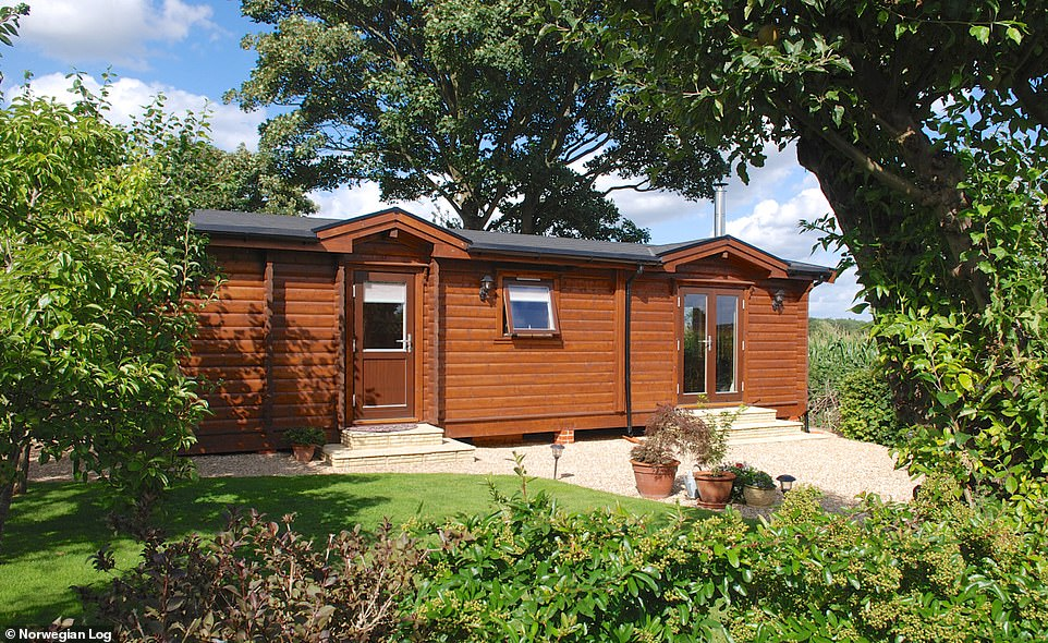 Stylish and self-contained: The two-bedroom Cresta cabin, which starts from just£52,114