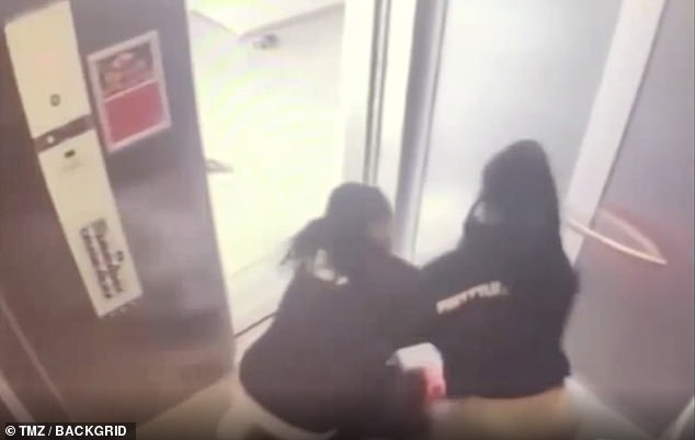 At odds: Quavo and Saweetie were captured getting into a physical altercation in newly released elevator surveillance footage from before their already messy breakup