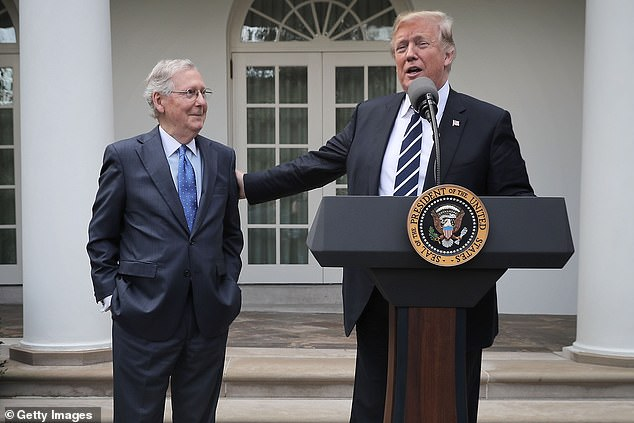 Former President Donald Trump (R) and Senate Majority Leader Mitch McConnell (R-KY) had a powerful partnership when Trump was in office, but split after the Jan. 6 riot following Trump's effort to overturn the election