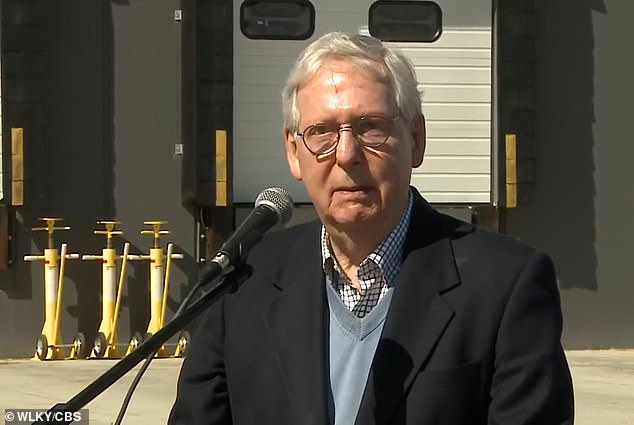 McConnell spoke to reporters in Kentucky Tuesday
