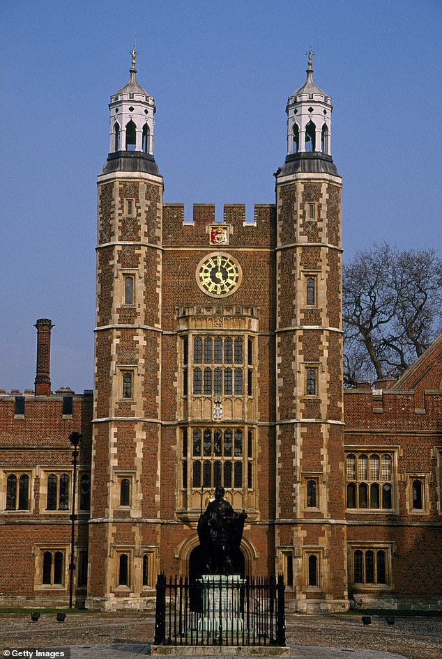 Pictured: Eton College says it insists that all its pupils treat others with kindness, decency and respect and has condemned criminal behaviour which it says 'has no place in society'