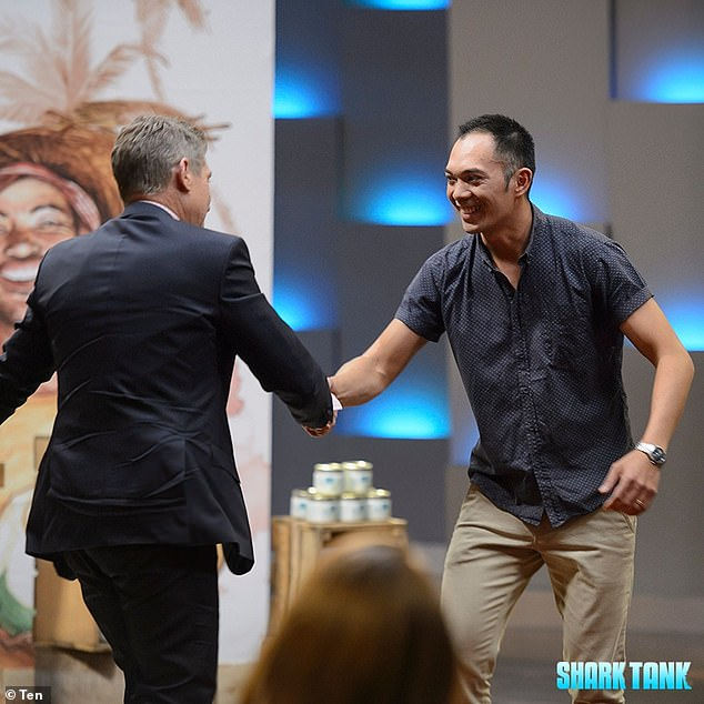 Making deals: The show sees every day Australians who are aspiring entrepreneurs present a product or service to the investors, known as the Sharks, for capital in return for a share of their company.