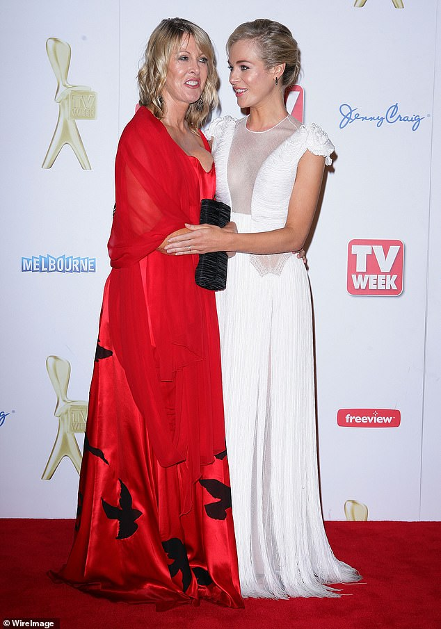 Bond: Jessica returned to Instagram in January, after 21 weeks of silence on the platform. Pictured here with mother, Karen, at the 2011 Logie Awards