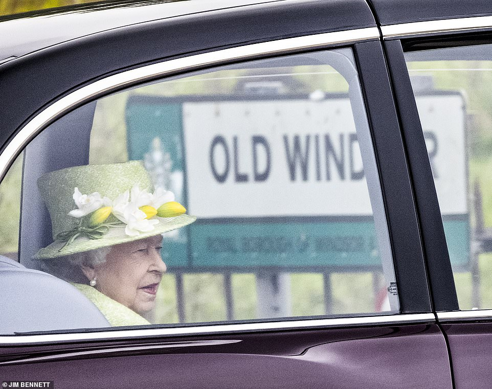 Her Majesty was last seen out in public last December, when she welcomed the Duke and Duchess of Cambridge back to Windsor after their whistle-stop tour of Britain. Pictured, the Queen leaving her home this morning
