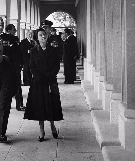 The Queen opening the memorial at Runnymeade in Surrey in October 1953