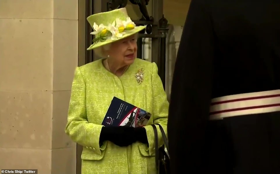 The Queen said to one member of the Royal Australian Air Force who'd recently been posted to the UK: 'It's rather bad luck to have arrived in lockdown isn't it. I hope in the next couple of years you'll be able to travel a bit more'.