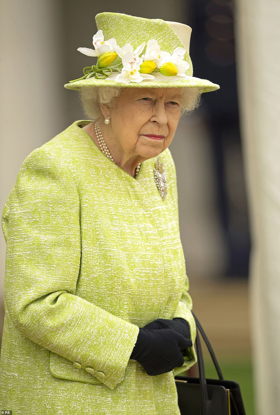 The event is the head of state's first public engagement outside Windsor Castle this year and is being held at the Commonwealth War Graves Commission