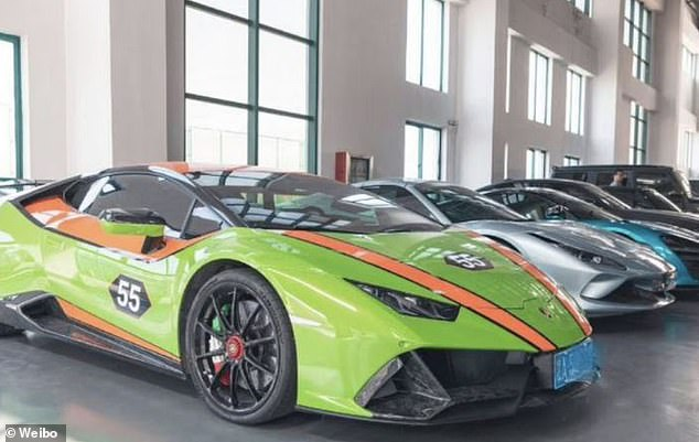 Luxury sports cars were among the expensive assets seized by Chinese police from what they said was the world's biggest video-game cheating ring