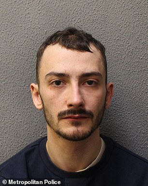Pictured:Jordan Northover, 28, who was jailed forsix years for attempted robbery