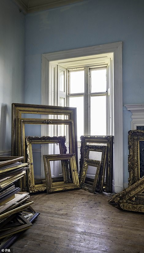 Also up for auction are a collection of carved giltwood frames