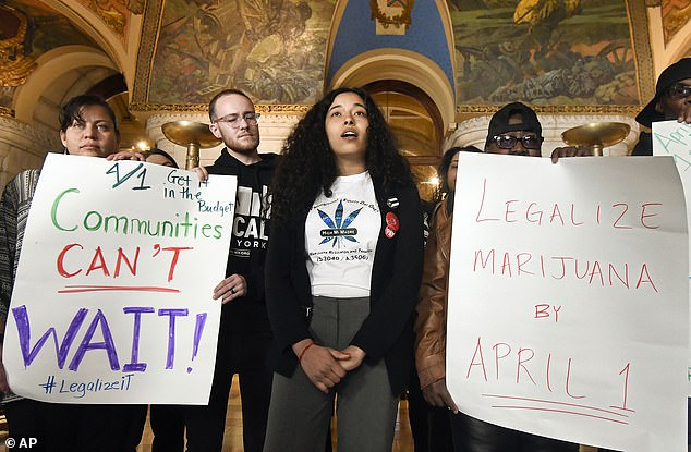 Sales of recreational-use marijuana won't become legal for an estimated 18 months pending state regulations.